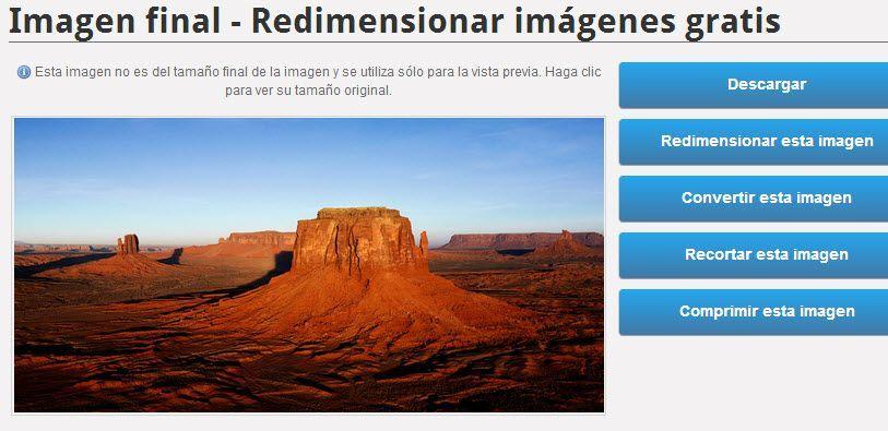 Redimensionar imagen gratis