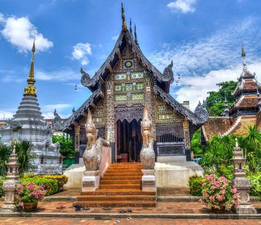 Templo de Chiang Mai en Tailandia